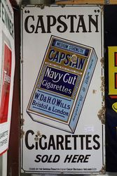 A Vintage Capstan Navy Cut Enamel Sign