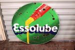 A Vintage Essolube Double Sided Pictorial Enamel Sign