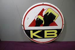 A Vintage KB Beer Pictorial Enamel Sign