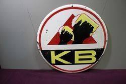 A Vintage KB Beer Pictorial Enamel Sign