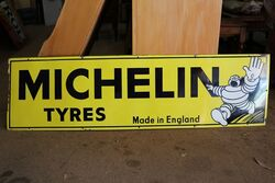 A Vintage Michelin Part Pictorial Enamel Advertising Sign