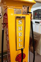 A Well Restored EMCO Rapid 6 Manual Petrol Pump In Shell Livery