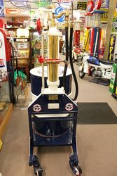 A Well Restored Rare And Early Boutillon Hand Operated Portable Petrol Pump