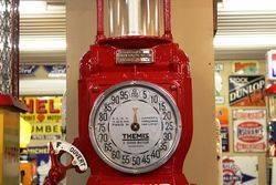 A Well Restored Rare Themis Single Cylinder Manual Petrol Pump
