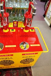 A Well Restored Triple Dispenser Oil Cart In Shell Livery