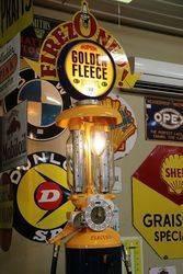 A  Rare Satam Column Petrol Pump In Golden Fleece Livery