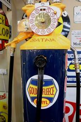 A  Rare Satam Column Petrol Pump In Golden Fleece Livery