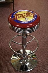 Adjustable GarageBar Stool Pepsi Cola