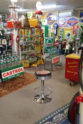 Adjustable GarageBar Stool Wakefield Castrol Motor Oil