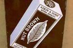 Adkins Nut Brown Pictorial Tobacco Enamel Sign