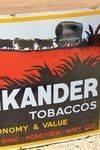 Afrikanda Tobacco Pictorial Enamel Advertising Sign