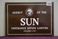 Agency of The Sun Insurance Office Limited  Enamel Sign