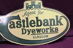 Agent For Castlebank Dyeworks Glasgow Enamel Post Mount Sign