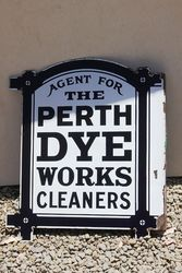 Agent For Perth Dyes Enamel Post Mount Advertising Sign