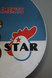 Aliments Star Tin Advertising Sign