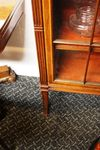 Antique 2 Door Mahogany Inlaid Bookcase Arriving Nov