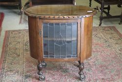 Antique 2 Handle Cabinet +  Glass Top