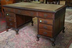 Antique 9 Drawer Desk