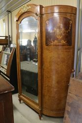 Antique Armoire With Long Mirror