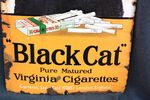 Antique Black Cat Enamel Sign