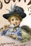 Antique Bovril Framed Pictorial Card Advertising Sign