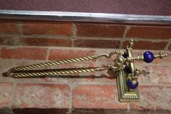 Antique Brass Chimney Fire Guard and Equipment