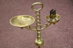 Antique Brass Cigarette Stand