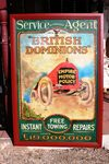Antique British Dominions Framed Pictorial Enamel Sign.