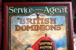 Antique British Dominions Framed Pictorial Enamel Sign