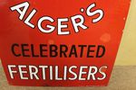 Antique Burnard + Algers Farming Advertising Enamel Sign