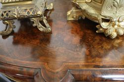 Antique Burr Walnut 4 Door Credenza