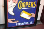 Antique COOPERS Dip Enamel Sign