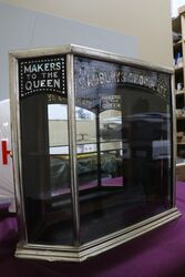 Antique Cadburyand96s Metal Bound Three Sided Shop Display Cabinet