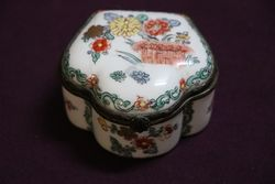 Antique Chantilly Porcelain Box