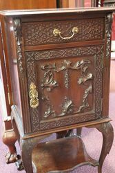 Antique Chippendale Style Bedside Cabinet