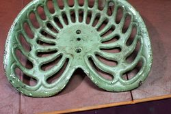 Antique Clean Skin Cast Iron Tractor Seat