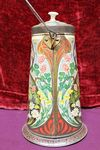 Antique Cow Milk Pail Advertising Sweets Tin