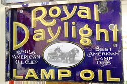 Antique Daylight Part Pictorial Double Sided Enamel Sign
