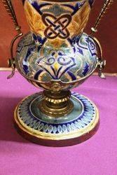 Antique Doulton Lambeth Oil Lamp