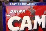 Antique Drink Camp Enamel Sign