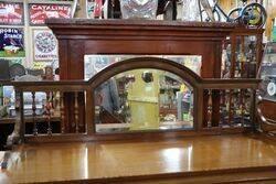 Antique Edwardian Mirror Back Parlour Cabinet
