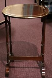 Antique Edwardian Nest of 3 Inlaid Tables