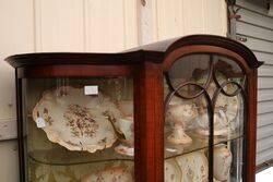 Antique Edwardian Walnut Display Cabinet