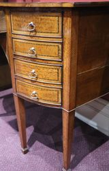 Antique English Satinwood And Mahogany Sideboard