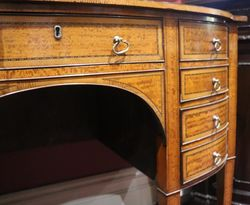 Antique English Satinwood And Mahogany Sideboard