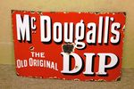 Antique Farming McDougalls Dip Enamel Sign