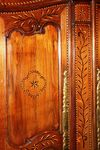 Antique French 2 Door Inlayed Armoire