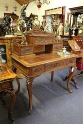 Antique French Carved Walnut Writing Desk