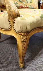 Antique French Oak Fauteuil SETTEE ONLY  C1885