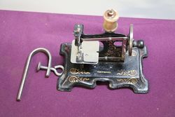 Antique German Tin Plate Sewing Machine